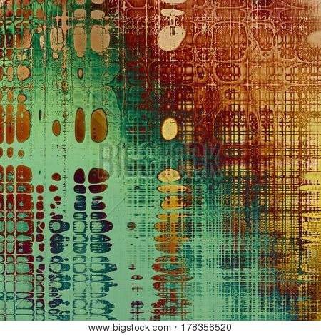 Old texture as abstract grunge background. With different color patterns: yellow (beige); brown; green; blue; red (orange); cyan