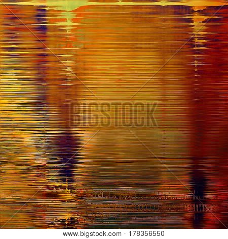 Abstract grunge background or aged texture. Old school backdrop with vintage feeling and different color patterns: yellow (beige); brown; green; red (orange); purple (violet); pink