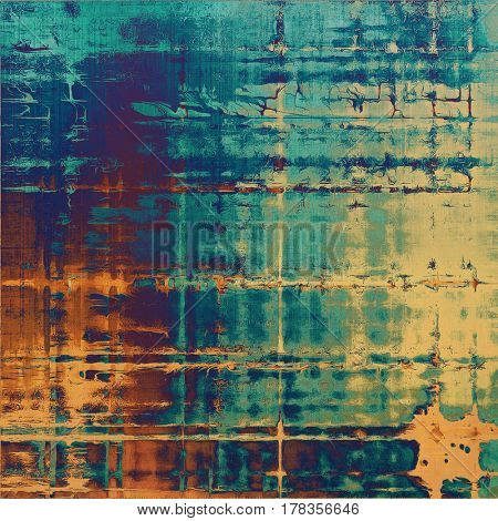 Grunge colorful texture, aged weathered background with different color patterns: yellow (beige); brown; blue; gray; cyan