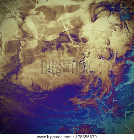 Rough vintage texture. With different color patterns: yellow (beige); brown; blue; gray; purple (violet); cyan