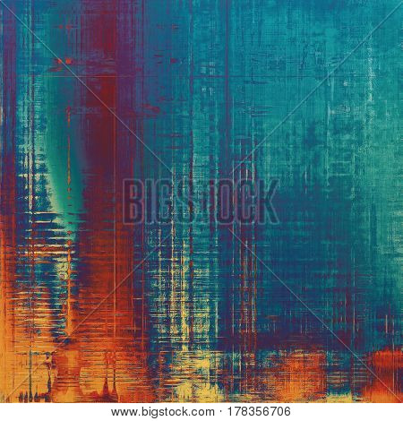 Ancient textured background or shabby backdrop. With different color patterns: yellow (beige); brown; blue; red (orange); purple (violet); cyan