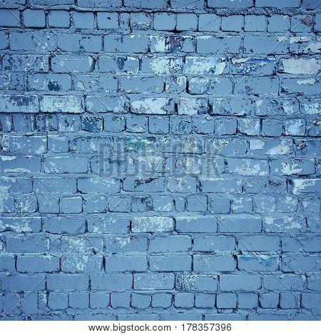 Old grunge stone photo urban background in indigo color