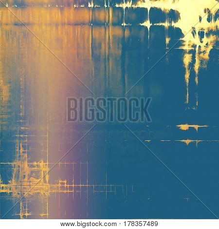 Scratched grunge background or spotted vintage texture. With different color patterns: yellow (beige); brown; blue; red (orange); pink