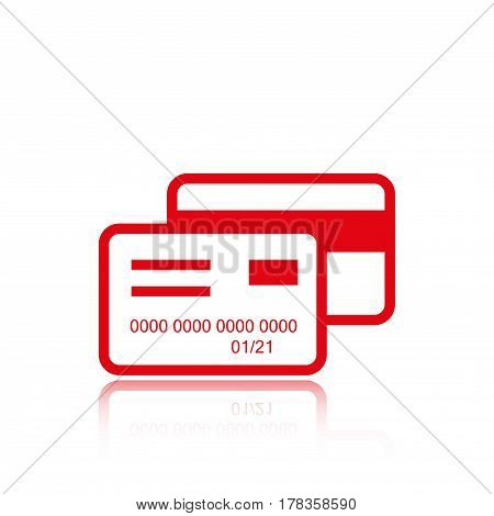 card credit  icon stock vector illustration flat design