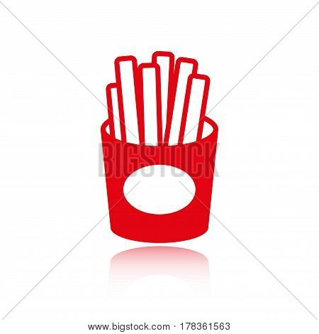 fries icon stock vector illustration flat design
