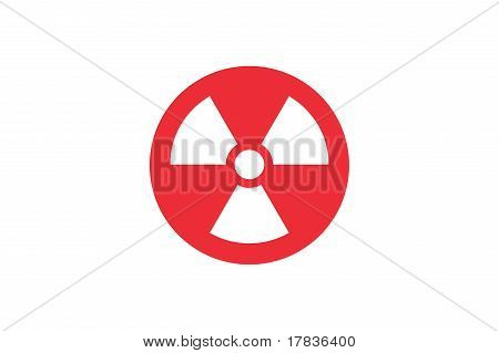 Radiation sign on Japan flag