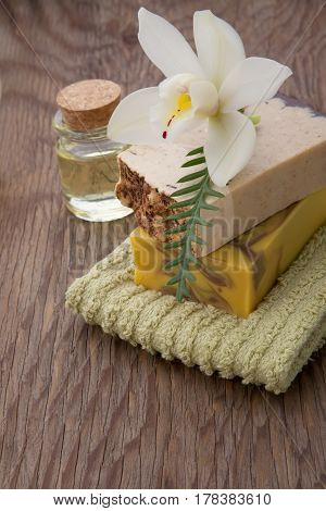 Handmade Organic Soap And Orchids