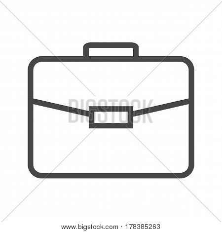 Briefcase Thin Line Vector Icon. Flat icon isolated on the white background. Editable EPS file. Vector illustration.