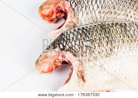 Nile tilapia on the plate, fired fish