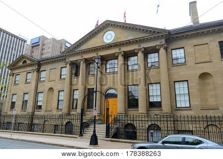 Province House is the legislative assembly of Nova Scotia in Halifax, Nova Scotia, Canada. This Palladian style house was built in 1819 and is the oldest legislative building still in use in Canada.