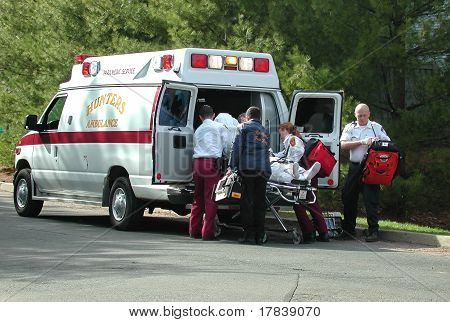 paramedics on the job