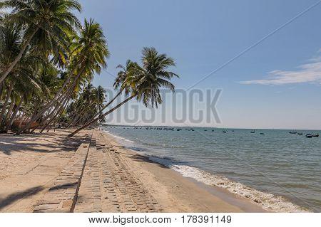 Mui Ne White Sandy Beach, Vietnam. Asia