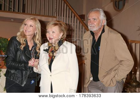 LOS ANGELES - MAR 23:  Katherine Kelly Lang, Lee Phillip Bell, John McCook at the celebration of 30 Years of Bnband their 23 Emmy nominations at CBS on March 23, 2017 in Los Angeles, CA