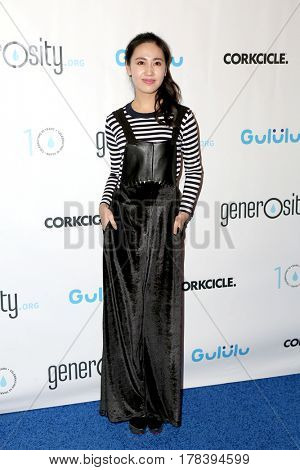 LOS ANGELES - MAR 21:  Candy Wang at the Generosity.org Fundraiser For World Water Day at the Montage Hotel on March 21, 2017 in Beverly Hills, CA