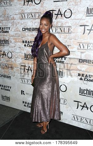 LOS ANGELES - MAR 16:  Justine Skye at the TAO, Beauty & Essex, Avenue and Luchini Grand Opening at the Selma Avennue on March 16, 2017 in Los Angeles, CA