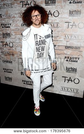 LOS ANGELES - MAR 16:  Redfoo at the TAO, Beauty & Essex, Avenue and Luchini Grand Opening at the Selma Avennue on March 16, 2017 in Los Angeles, CA
