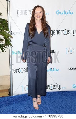 LOS ANGELES - MAR 21:  Madeline Carroll at the Generosity.org Fundraiser For World Water Day at the Montage Hotel on March 21, 2017 in Beverly Hills, CA
