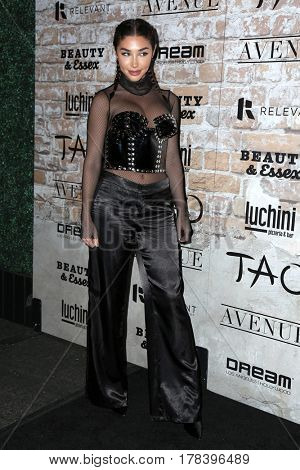 LOS ANGELES - MAR 16:  Chantel Jeffries at the TAO, Beauty & Essex, Avenue and Luchini Grand Opening at the Selma Avennue on March 16, 2017 in Los Angeles, CA