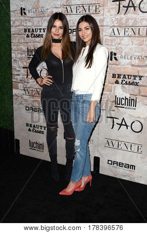 LOS ANGELES - MAR 16:  Madison Reed, Victoria Justice at the TAO, Beauty & Essex, Avenue and Luchini Grand Opening at the Selma Avennue on March 16, 2017 in Los Angeles, CA