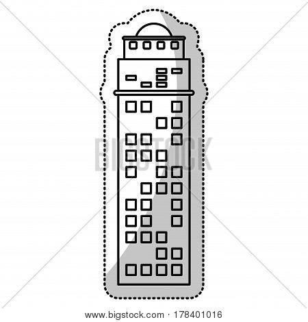 building facade corporate cut line vector illustration eps 10
