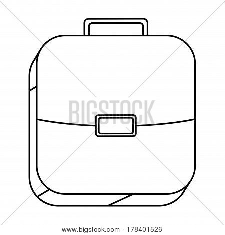 square silhouette button with briefcase vector illustration