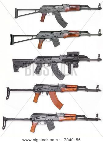 Well known AK-47 kalashnikov assault rifles collection poster