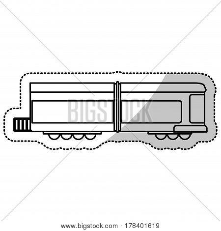 locomotive train transport cut line vector illustration eps 10