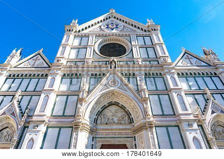 Santa Croce Basilica With Blue Sky On The Background