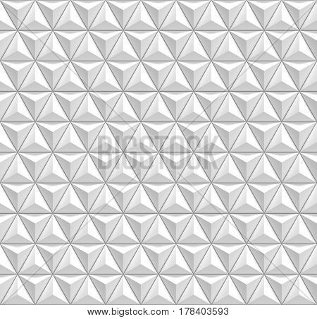 3d triangles seamless pattern ornament - 3d rendering background