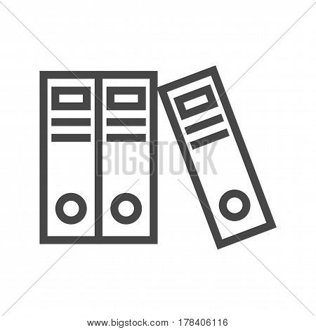 Office Folders Thin Line Vector Icon. Flat icon isolated on the white background. Editable EPS file. Vector illustration.