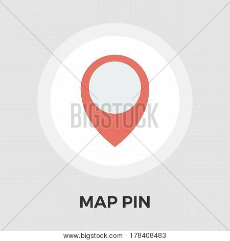 Map Pin Icon Vector. Flat icon isolated on the white background. Editable EPS file. Vector illustration.