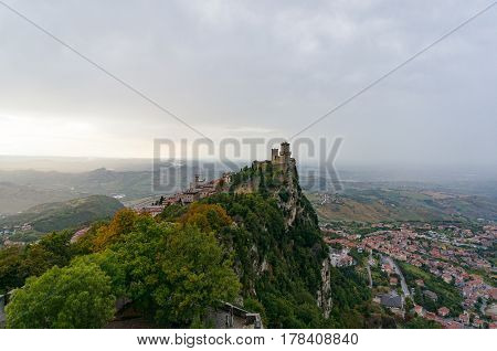 Ancient Fortress On The Mountain Top