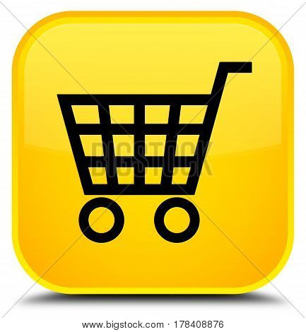 Ecommerce Icon Special Yellow Square Button