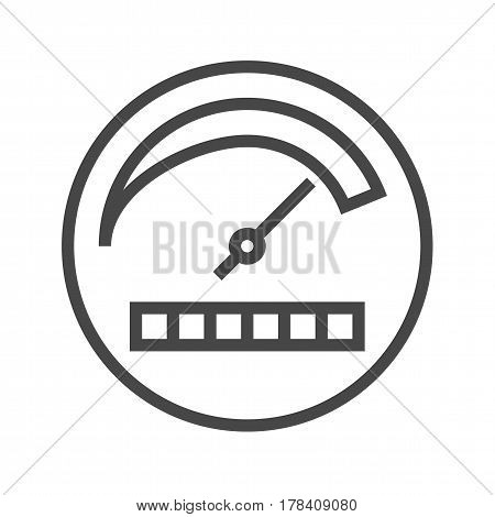 Productivity Thin Line Vector Icon. Flat icon isolated on the white background. Editable EPS file. Vector illustration.
