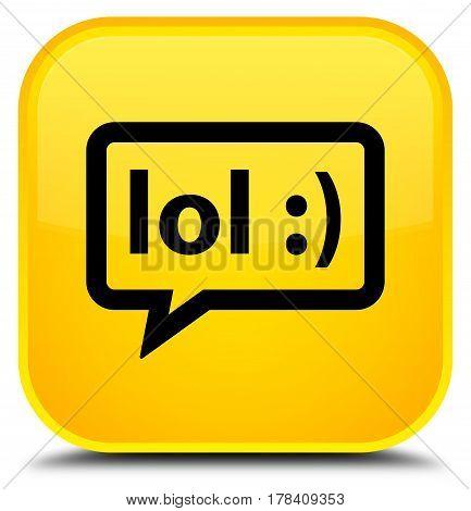 Lol Bubble Icon Special Yellow Square Button