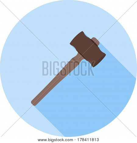 Mallet, dentist, doctor icon vector image. Can also be used for dentist equipment. Suitable for mobile apps, web apps and print media.