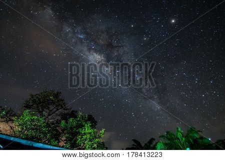 Milkyway rising when cloud is clear at Sabah