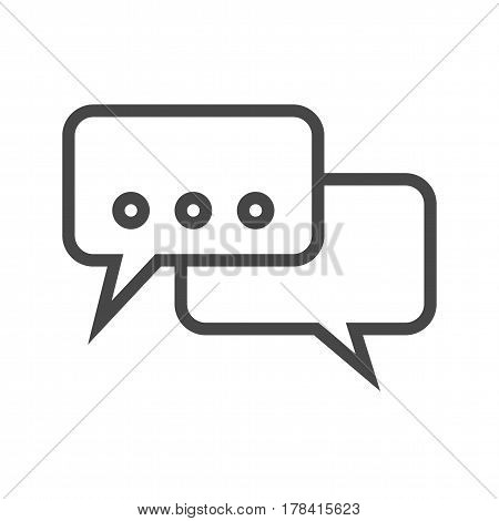 Speech Bubble Thin Line Vector Icon. Flat icon isolated on the white background. Editable EPS file. Vector illustration.