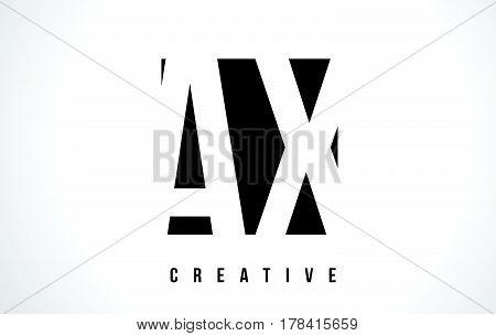 Ax A X White Letter Logo Design With Black Square.