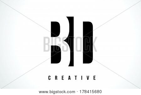 Bd B D White Letter Logo Design With Black Square.