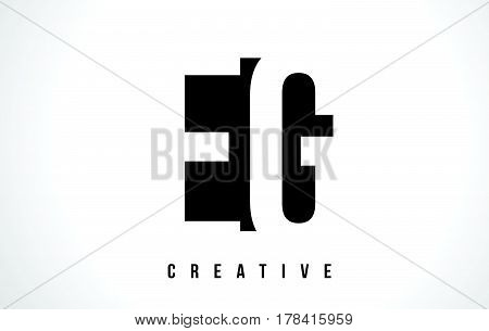 Eg E G White Letter Logo Design With Black Square.