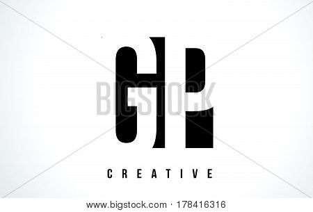 Gp G P White Letter Logo Design With Black Square.