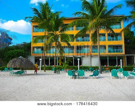 Dominican Republic. Boca Chica. The beach, summer and sun and sea