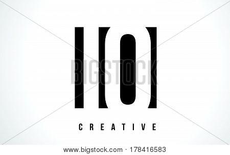 Iq I Q White Letter Logo Design With Black Square.