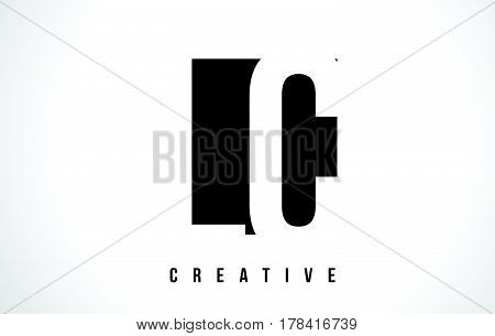Lc L C White Letter Logo Design With Black Square.