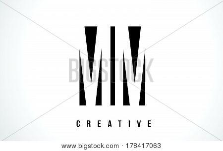 Mm M M White Letter Logo Design With Black Square.