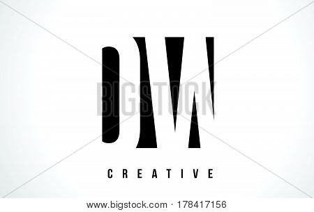 Ow O W White Letter Logo Design With Black Square.