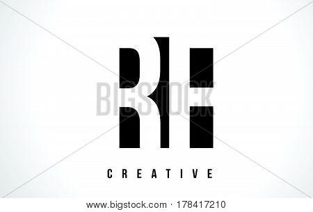 Rf R F White Letter Logo Design With Black Square.