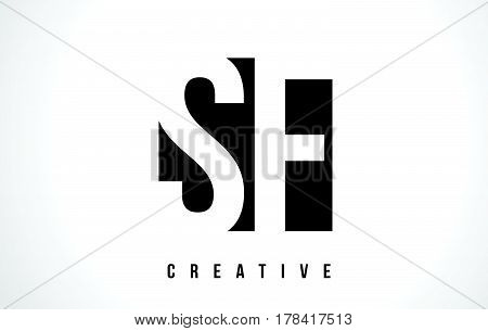 Sf S F White Letter Logo Design With Black Square.