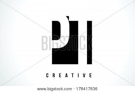Pt P T White Letter Logo Design With Black Square.